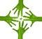 Stock Image : Hands star logo