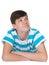Stock Image : Handsome teenager boy imagines