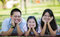 Stock Image : Happy asian mother, father and daughter