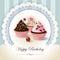 Stock Image : Happy Birthday cupcake