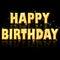 Happy birthday - golden letters