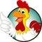 Stock Image : Happy cartoon chicken