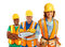 Stock Image : Happy Construction Workers