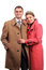 Stock Image : Happy couple dressed in coats