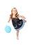 Stock Image : Happy dancing girl