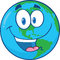 Stock Image : Happy Earth Cartoon Character