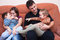 Stock Image : Happy family fun at home