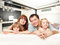 Stock Image : Happy family at home