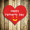 Stock Image : Happy Father's day word on red heart