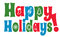 Stock Image : Happy Holidays with Icons