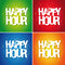 Stock Image : Happy hour sign