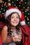 Stock Image : Happy little girl drinking milk