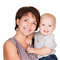 Stock Image : Happy mother with smiling baby