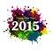 Stock Image : Happy New Year 2015 colorful grunge celebration beautiful card v