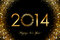 Stock Image : 2014 Happy New Year 2014 glowing background