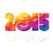 Stock Image : Happy New Year 2015 Greeting Colorful.