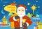 Stock Image : Happy Santa Claus profession series