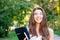 Stock Image : Happy student girl