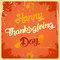 Happy Thanksgiving day vintage poster
