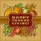 Stock Image : Happy Thanksgiving Retro Card