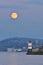 Stock Image : The Harvest Full Moon Rise