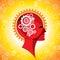 Stock Image : Head and brain gear
