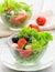 Stock Image : Healthy food - salad with mozzarella, arugula
