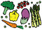 Stock Image : Healthy Fresh Vegetables Set