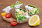 Stock Image : Healthy, grain free, vegetable wraps