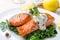 Stock Image : Healthy Salmon Steak