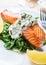Stock Image : Healthy Salmon Steak with salmon
