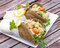 Stock Image : Healthy salmon wraps