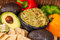 Stock Image : Healthy Vegtables and  guacamole