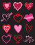 Stock Image : Heart Graphic Elements