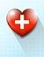 Stock Image : Heart Plus Medical Symbol Background