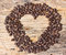 Stock Image : Heart shape made from coffee beans