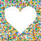 Heart Shaped Colourful Vector Confetti Heap Background with Free