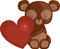 Stock Image : Heart and Teddy Bear