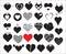 Stock Image : Heart Vectors