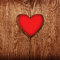 Stock Image : Heart in wood