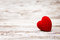 Heart On Wooden Background, Valentine Day Decoration, Love Conce Royalty Free Stock Photos