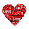 Stock Image : Heart from word LOVE