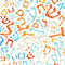 Stock Image : Hebrew alphabet background