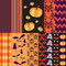 Stock Image : Helloween seamless patterns for scrapbooking