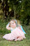 Stock Image :  Het meisje van de baby in park