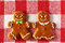 Stock Image :  Het paarkoekjes van de Kerstmis eigengemaakte peperkoek