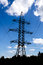 Stock Image : High-voltage power tower.