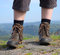 Stock Image : Hiking woman with boots