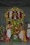 Stock Image : Hindu priest with Lord Venkatesa