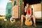 Stock Image : Hippie girl